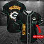 Green Bay Packers Personalized Baseball Jersey Shirt 224