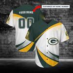 Green Bay Packers Personalized Baseball Jersey 235