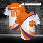 Clemson Tigers Personalized Baseball Jersey 252