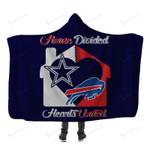 Buffalo Bills And Dallas Cowboys Limited Edition Hooded Blanket GTS003288