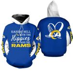 NFL Los Angeles Rams Limited Edition All Over Print Hoodie Sweatshirt Zip Hoodie T shirt  Unisex Size