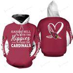 NFL Arizona Cardinals Limited Edition All Over Print Hoodie Sweatshirt Zip Hoodie T shirt  Unisex Size