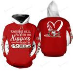NFL San Francisco 49ers Limited Edition All Over Print Hoodie Sweatshirt Zip Hoodie T shirt  Unisex Size