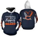 NFL Chicago Bears Limited Edition All Over Print Hoodie Sweatshirt Zip Hoodie T shirt  Unisex Size