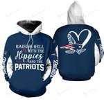 NFL New England Patriots Limited Edition All Over Print Hoodie Sweatshirt Zip Hoodie T shirt  Unisex