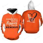 NFL Cincinnati Bengals Limited Edition All Over Print Hoodie Sweatshirt Zip Hoodie T shirt  Unisex
