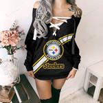 Pittsburgh Steelers Lace-Up Sweatshirt 09