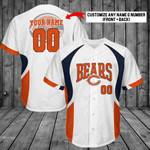 Chicago Bears Personalized  Baseball Jersey 263