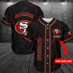 San Francisco 49ers Personalized Baseball Jersey 272