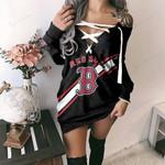 Boston Red Sox Lace-Up Sweatshirt 34