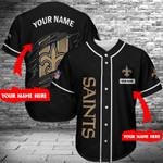 New Orleans Saints Personalized Baseball Jersey 325