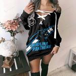 Carolina Panthers Lace-Up Sweatshirt 44