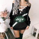 New York Jets Lace-Up Sweatshirt 54
