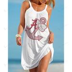 NCAAF Alabama Crimson Tide Halter Beach Dress 021