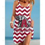 NCAAF Alabama Crimson Tide Sleeveless Beach Dress With Round Neck 013