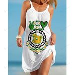 NCAAF Baylor Bears Print Casual Sleeveless Cover Up Beach Dress 025