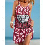 NCAAF Alabama Crimson Tide Sleeveless Beach Dress With Round Neck 014
