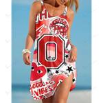 NCAAF Ohio State Buckeyes Sleeveless Beach Dress With Round Neck 004