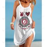 NCAAF Alabama Crimson Tide Casual Sleeveless Cover Up Beach Dress 020
