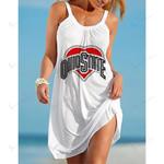 NCAAF Ohio State Buckeyes Sleeveless Beach Dress With Round Neck 001
