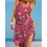 NCAAF Ohio State Buckeyes Sleeveless Beach Dress With Round Neck 007