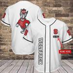 NC State Wolfpack Personalized Baseball Jersey Shirt 344