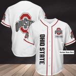 Ohio State Buckeyes Personalized Baseball Jersey 345