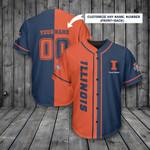 Illinois Fighting Illini Personalized Baseball Jersey 373