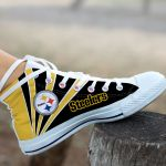 Pittsburgh Steelers High Top Shoes 012