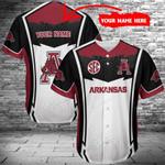 Arkansas Razorbacks Personalized Baseball Jersey 394