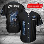 Dallas Cowboys Personalized Baseball Jersey 404