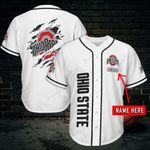 Ohio State Buckeyes Personalized Baseball Jersey 456