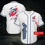 Cleveland Indians Personalized Baseball Jersey 455