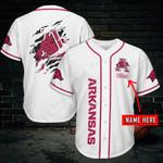 Arkansas Razorbacks Personalized Baseball Jersey 454