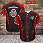 Ohio State Buckeyes Personalized Baseball Jersey 458