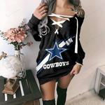 Dallas Cowboys Lace-Up Sweatshirt 10