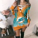 Miami Dolphins Lace-Up Sweatshirt 65