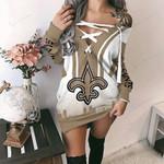 New Orleans Saints Lace-Up Sweatshirt 68