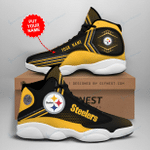 Pittsburgh Steelers Personalized AJD13 Sneakers 1079