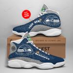 Seattle Seahawks Personalized AJD13 Sneakers 1062