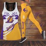 Los Angeles Lakers Leggings And Tank Top 148