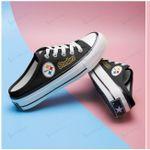 Pittsburgh Steelers Half Slip Canvas Shoes 02