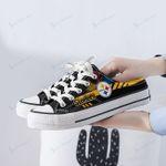 Pittsburgh Steelers Half Slip Canvas Shoes 01
