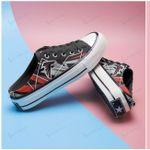 Atlanta Falcons Half Slip Canvas Shoes 07