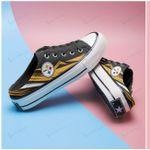 Pittsburgh Steelers Half Slip Canvas Shoes 11