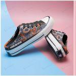 Chicago Bears Half Slip Canvas Shoes 16