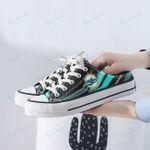 Miami Dolphins Half Slip Canvas Shoes 17