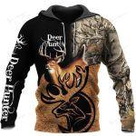 Caribou Camo Deer Hunting Hoodie T-Shirt Sweatshirt NM