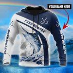 Custom name Marlin fishing design 3d print shirts