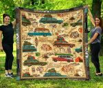 Camping Lovers Quilt Blanket